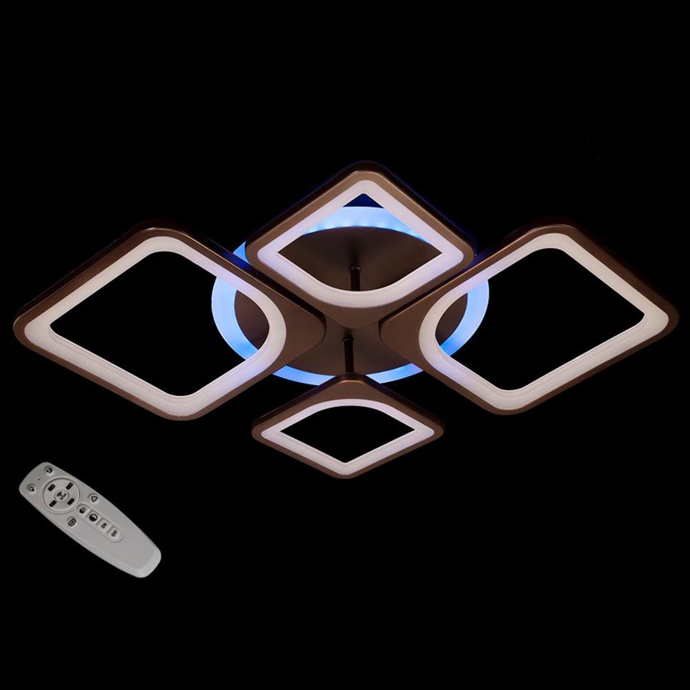 Світлодіодна LED люстра СветМира з пультом управління MX3392/2+2CF/LED/Dimmer