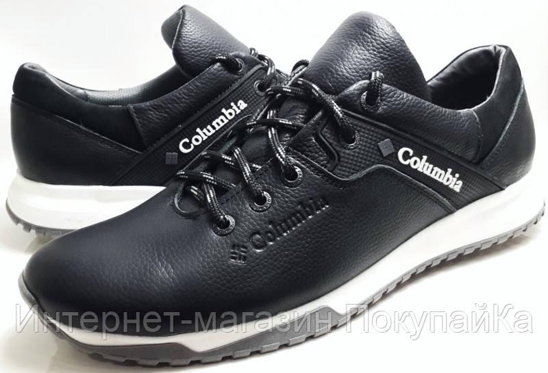 2ca27f97 Мужские Осень-Весна Кожаные кроссовки спорт туфли в стиле Columbia  (model-20)