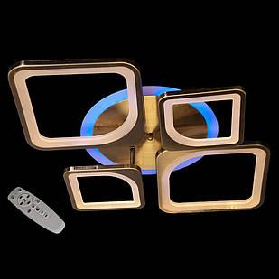 Светодиодная LED люстра СветМира с пультом управления MX3392/2+2BR/LED/Dimmer