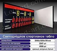 Светодиодное спортивное табло универсальное LED-ART-Sport-3000х1500-6343