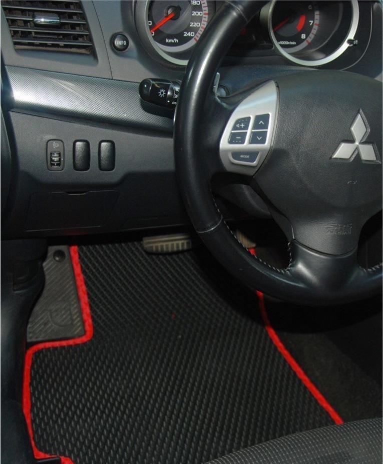 """Автоковрики ЭВА от ТМ """"EvaKovrik"""" для Mitsubishi Lancer Evolution X (2007-2016)"""