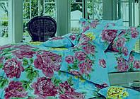 Комплект полуторного сатинового постельного белья ТМ Queensilk 1940