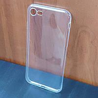 Прозрачный ультратонкий силиконовый чехол для iPhone 7 (Уценка)