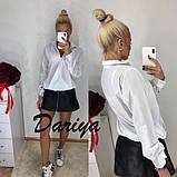Женская свободная штапельная  блуза на пуговицах 42,44,46р (3 расцветки, фото 3