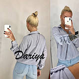 Женская свободная штапельная  блуза на пуговицах 42,44,46р (3 расцветки, фото 5