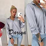 Женская свободная штапельная  блуза на пуговицах 42,44,46р (3 расцветки, фото 6