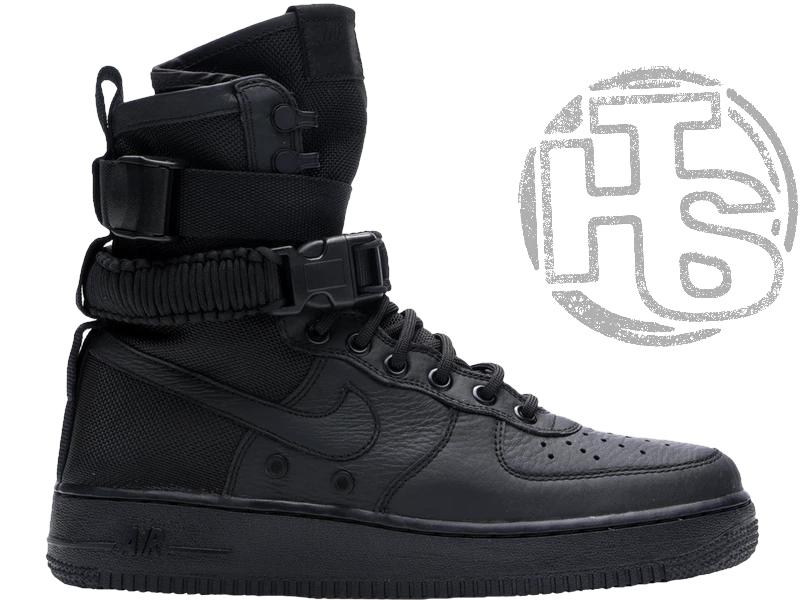 Мужские кроссовки Nike Special Field Air Force 1 High Triple Black 864024-003