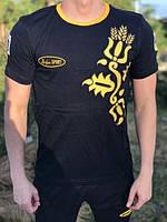 Мужская футболка Bosco Sport черная с колосом 🇺🇦 Хлопок. Италия🇮🇹 S М L XL XXL XXXL