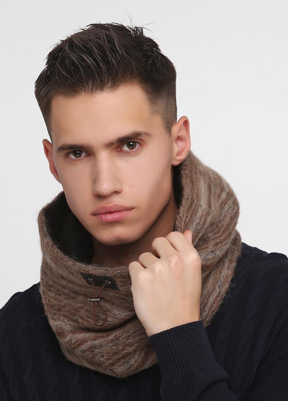 Дизайнерский шарф-снуд шерстяной ручной работы TamiMore унисекс (003)
