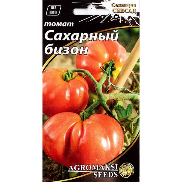 """Насіння томату середньораннього, низькорослого, врожайного """"Цукровий бізон"""" (0,1 г) від Agromaksi seeds"""