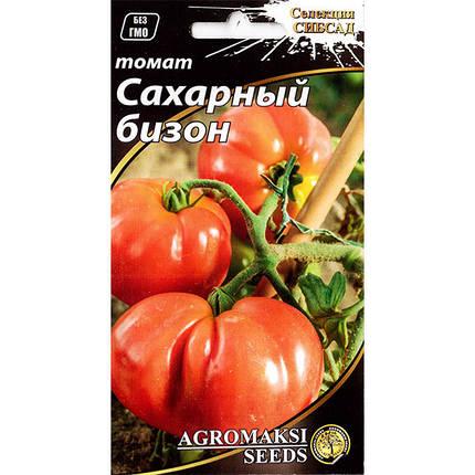 """Насіння томату середньораннього, низькорослого, врожайного """"Цукровий бізон"""" (0,1 г) від Agromaksi seeds, фото 2"""
