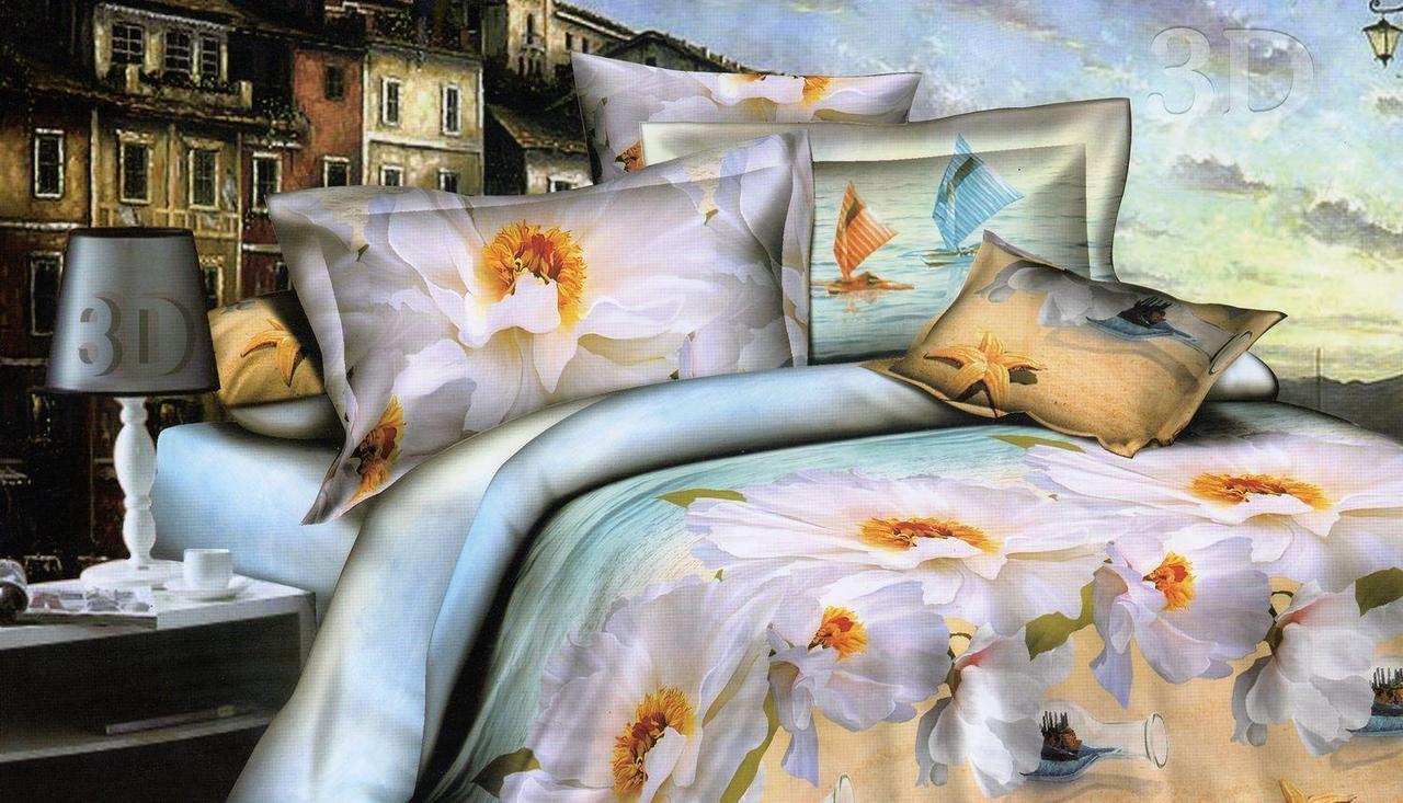 Комплект  постельного белья 3D (коттон) Парус фирмы Queensilk