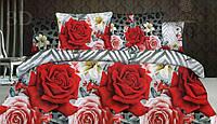 Комплект постельного белья 3D (коттон) Роза зигзаг  фирмы Queensilk