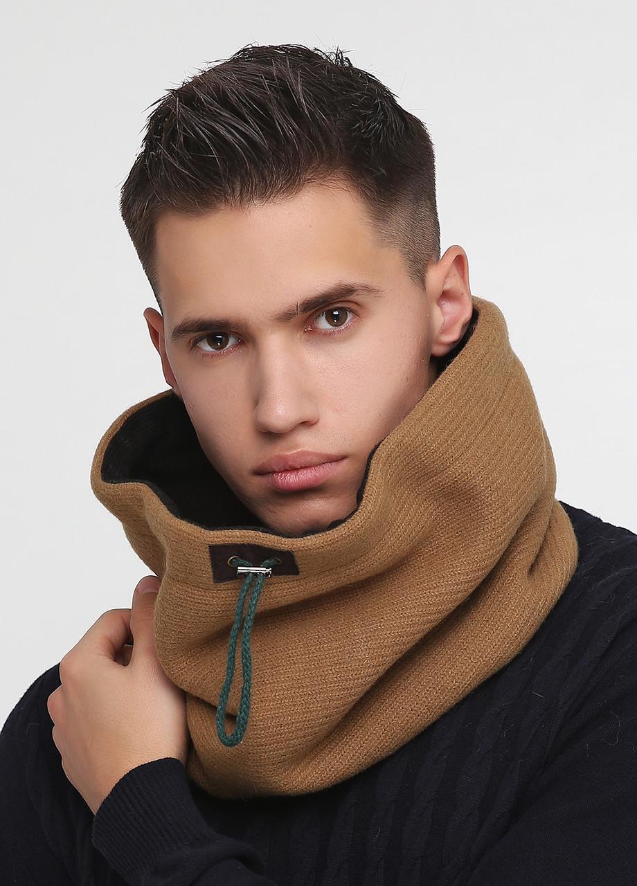 Дизайнерский шарф-снуд шерстяной ручной работы TamiMore унисекс (005)