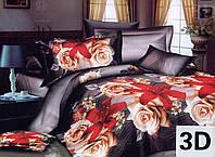 Комплект постельного белья 3D (коттон) Роза-лилия  фирмы Queensilk