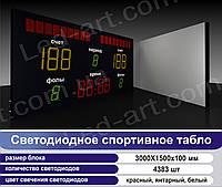 Светодиодное спортивное табло универсальное футбол, баскетбол LED-ART-Sport-3000х1500-4383