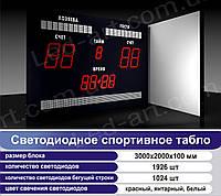 Светодиодное спортивное табло универсальное футбол LED-ART-Sport-3000х2000-2947