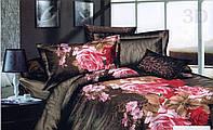 Комплект  постельного белья 3D (коттон) Тигровая поляна фирмы Queensilk