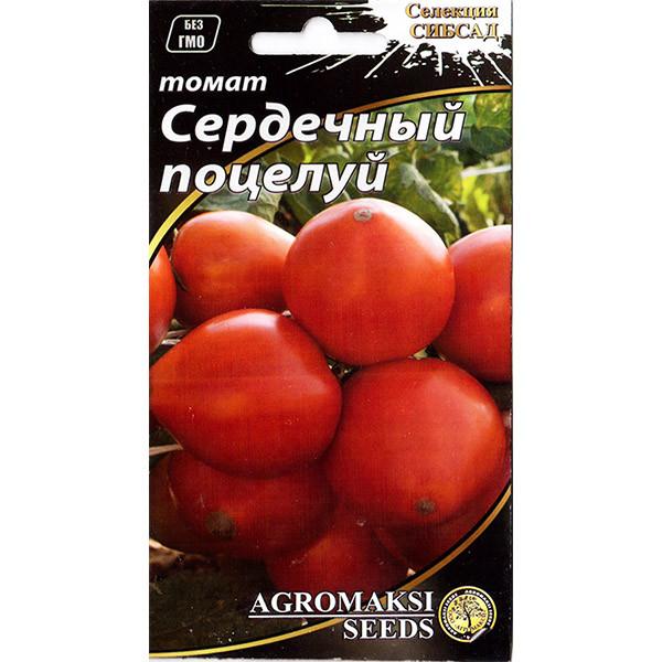 """Насіння томату раннього, для відкритого грунту і теплиць """"Серцевий поцілунок"""" (0,1 г) від Agromaksi seeds"""