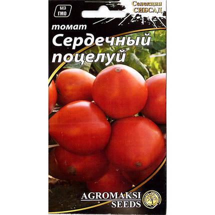 """Насіння томату раннього, для відкритого грунту і теплиць """"Серцевий поцілунок"""" (0,1 г) від Agromaksi seeds, фото 2"""