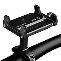 """Алюминиевый вело- мото- держатель для мобильных устройств """"Side"""" с креплением на руль в черном цвете"""