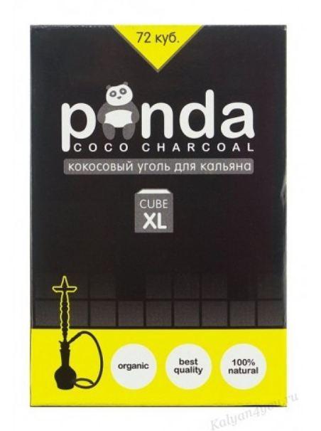 Кокосовый уголь Panda (Панда) большой кубик  1кг (72 шт.)