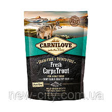 Carnilove CARP & TROUT FRESH 1.5 kg корм для собак КАРП и ФОРЕЛЬ