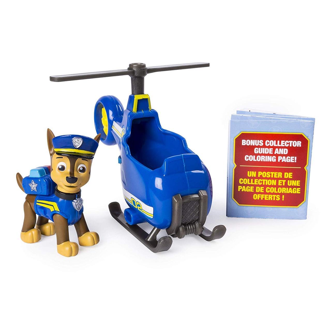 Щенячий патруль Чейз гонщик и мини вертолетОригинал PAW Patrol Ultimate Rescue Chase's Mini Helicopter