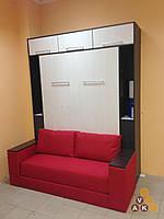 Шкаф кровать 1400*2000 с антресолями и боковыми полками
