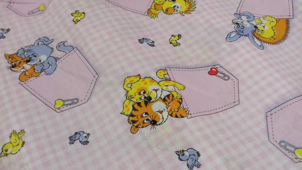 Постельное белье Кармашки роз.. бязь белорусская ТМ Комфорт текстиль  (в кроватку)