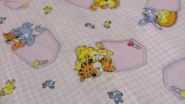 Постельное белье Кармашки роз.. бязь белорусская ТМ Комфорт текстиль  (в кроватку), фото 2