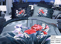 Комплект  постельного белья 3D (коробка, 2 наволочки) Букет ирисов фирмы Queensilk