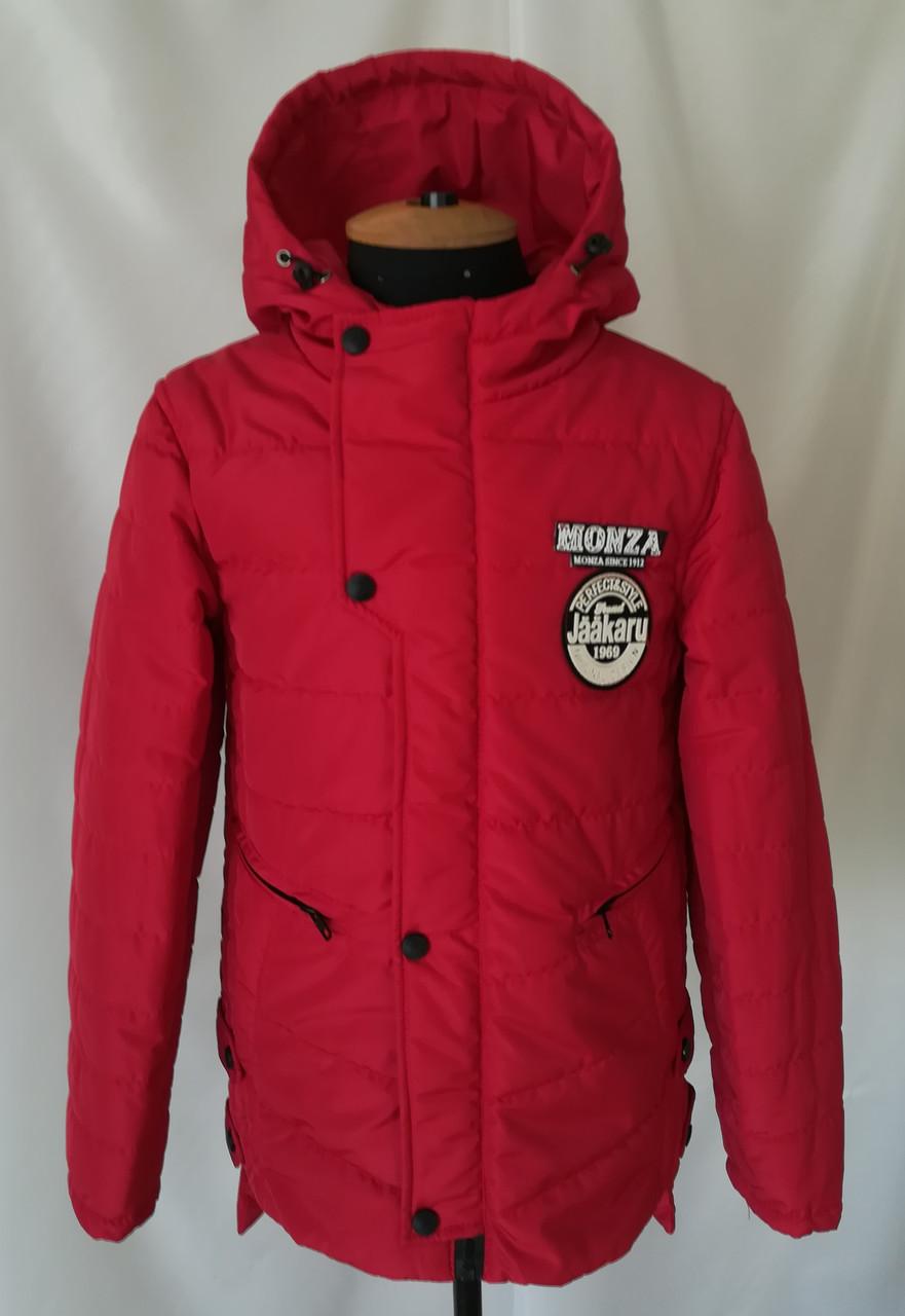 Куртка весенняя для мальчика  подростка  32-40 красный