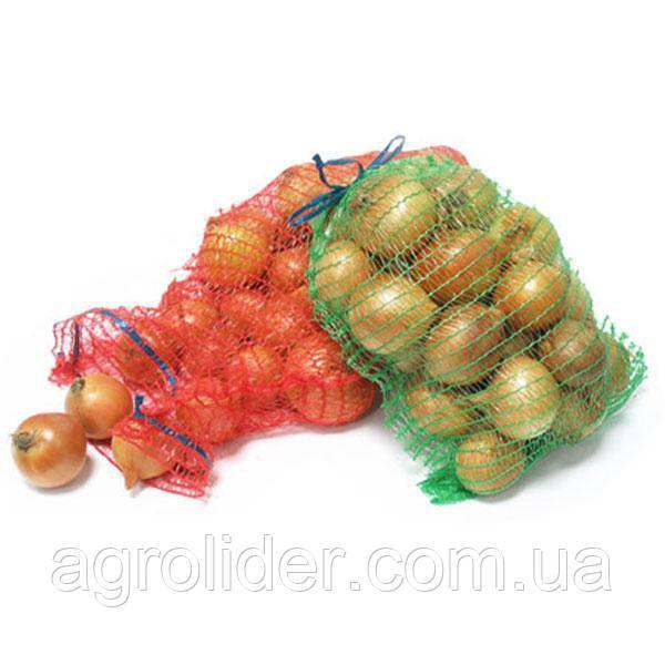 Сетка-мешок овощная с ручкой 21х31 (до 3 кг) Красная, Оранжевая