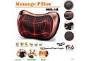 Подушка роликовая массажная автомобильная Massage pillow QY-8028 от боли инфакрасный подогрев от прикуривателя, фото 5