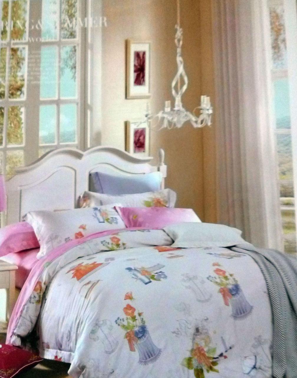 Двуспальное евро постельное белье с зимнего бамбукового волокна Лючия ТМ Kunmeng