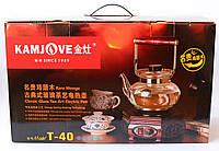 """Электрический  подогреватель """"KAMJOVE"""" с стеклянным чайником 800мл."""
