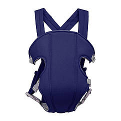 Сумка-кенгуру SUNROZ YEBD-2 Baby Carrier рюкзак для переноски ребенка Синий SUN0980, КОД: 146373