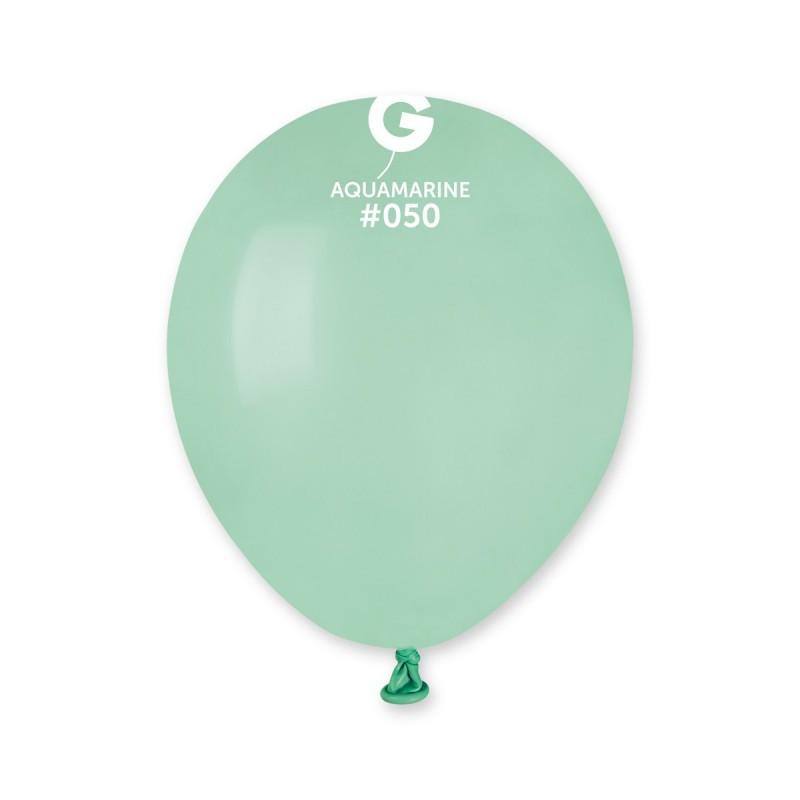 Латексные воздушные шары A50_50 Gemar Италия, расцветка: пастель аквамарин (бирюзовый), Диаметр 5 дюймов/13 см