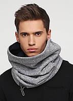Дизайнерский высокий трикотажный шарф-снуд ручной работы TamiMore унисекс (006)