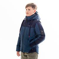 Куртка-жилет для мальчика «Стен» 8-13 лет (джинс)
