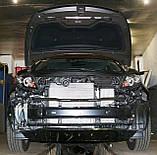 Декоративно-защитная сетка радиатора Kia Sportage 2010-  фальшрадиаторная решетка, бампер, фото 2