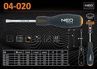 Отвертка шлицевая ударная 8,0 х 280мм., NEO 04-020