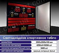 Светодиодное спортивное табло универсальное футбол, баскетбол, волейбол LED-ART-Sport-3000х2500-19869