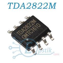 TDA2822M, низковольтный, стерео усилитель, SOP8