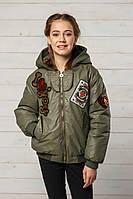 Курточка деми Белла 134-152рост цвет хаки