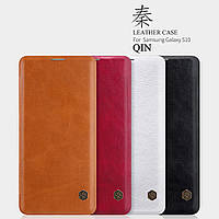 Кожаный чехол Nillkin Qin для Samsung Galaxy S10 (4 цвета)