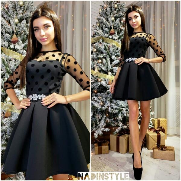 d2ed89a744a Женское нарядное платье с пышной юбкой р.S-M  продажа