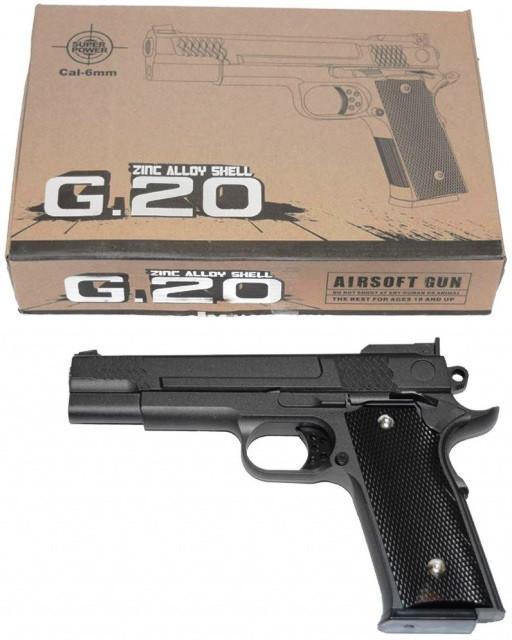 Игрушечный пистолет страйкбольный Galaxy G.20 Browning HP Браунинг ХП