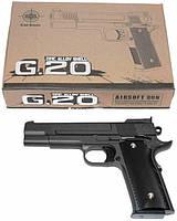Игрушечный пистолет страйкбольный Galaxy G.20 Browning HP Браунинг ХП, фото 1